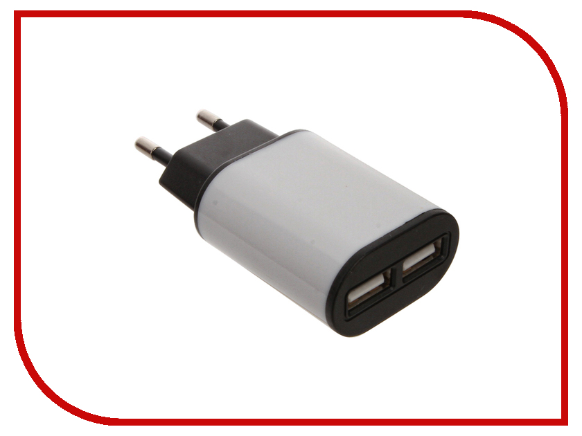 Зарядное устройство Aksberry 2xUSB 2.1A сетевое