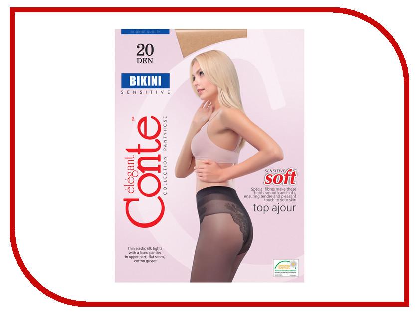 Колготки Conte Bikini размер 2 плотность 20 Den Bronzo