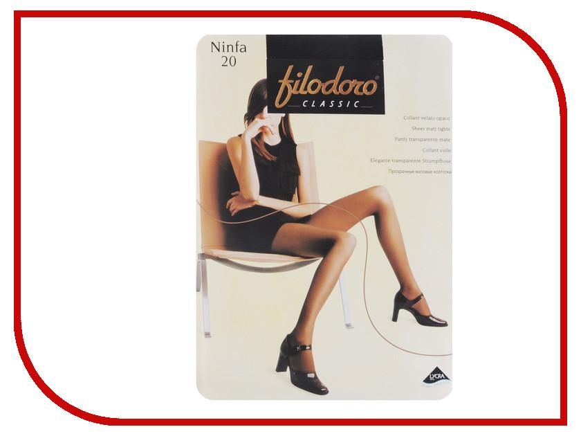 Колготки Filodoro Ninfa размер 4 плотность 20 Den Nero колготки filodoro ninfa размер 2 плотность 40 den vita bassa playa