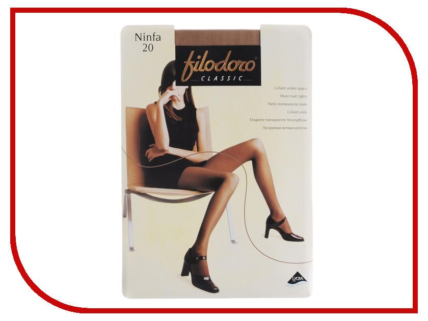Колготки Filodoro Ninfa размер 2 плотность 20 Den Cognac колготки filodoro ninfa размер 2 плотность 40 den vita bassa playa