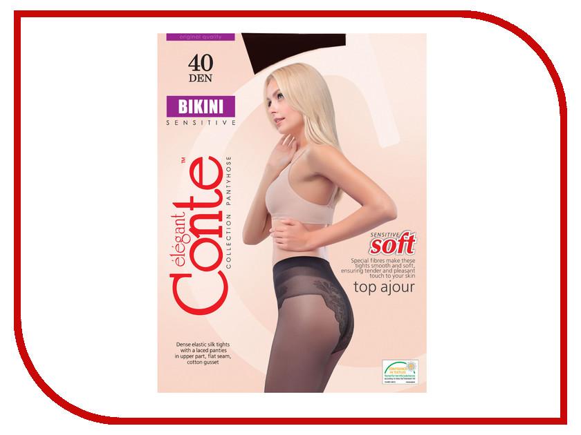 Колготки Conte Bikini размер 2 плотность 40 Den Nero