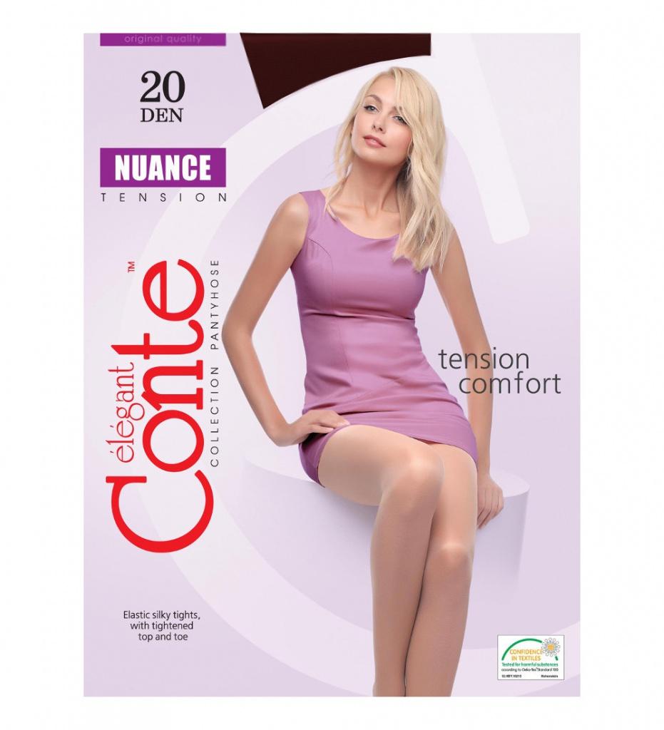 цены Колготки Conte Nuance размер 4 плотность 20 Den Nero