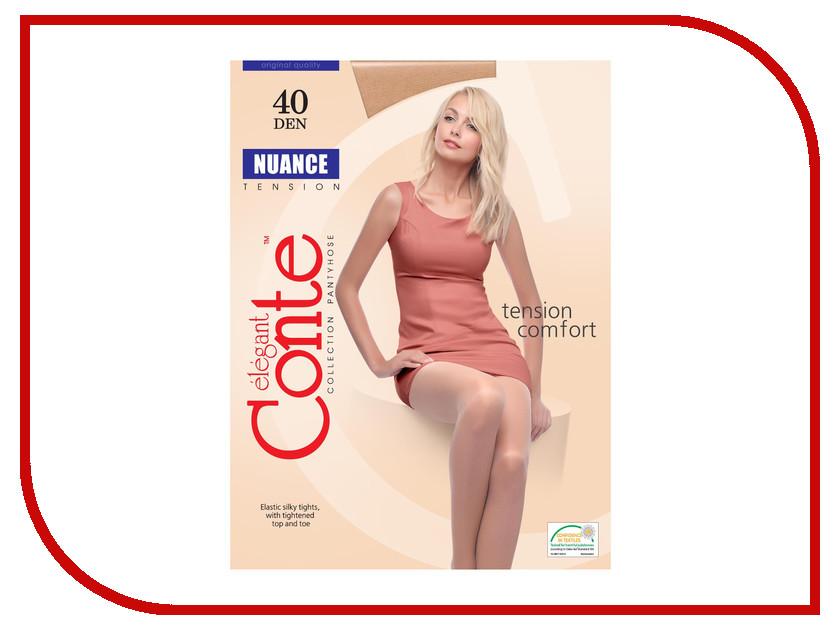Колготки Conte Nuance размер 4 плотность 40 Den Naturel трусики quelle nuance 753016