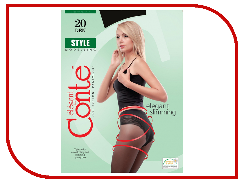 Колготки Conte Style размер 2 плотность 20 Den Nero<br>