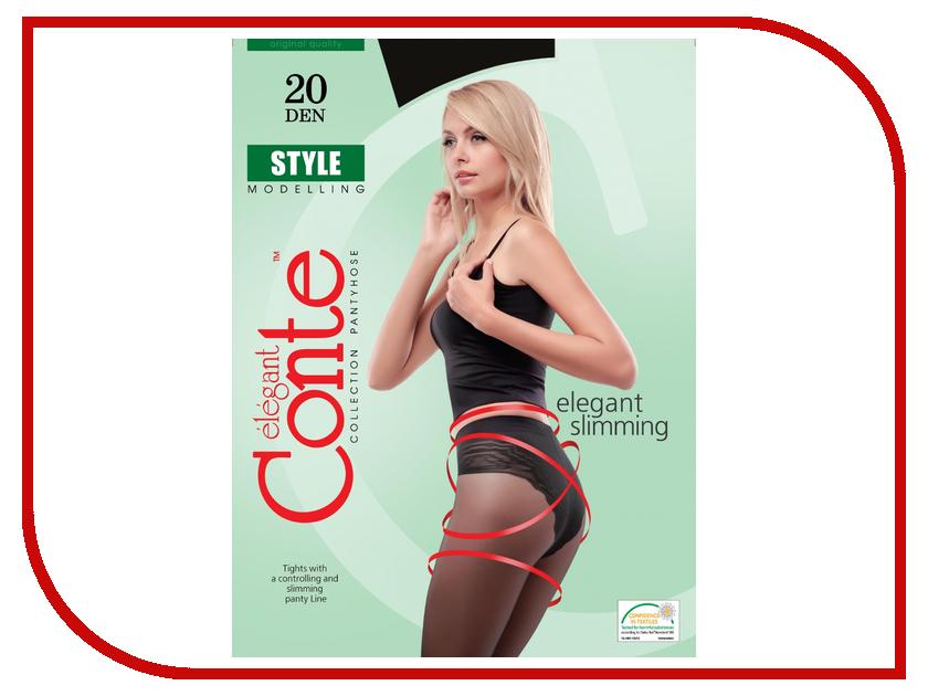 Колготки Conte Style размер 4 плотность 20 Den Nero колготки conte elegant колготки prestige 20