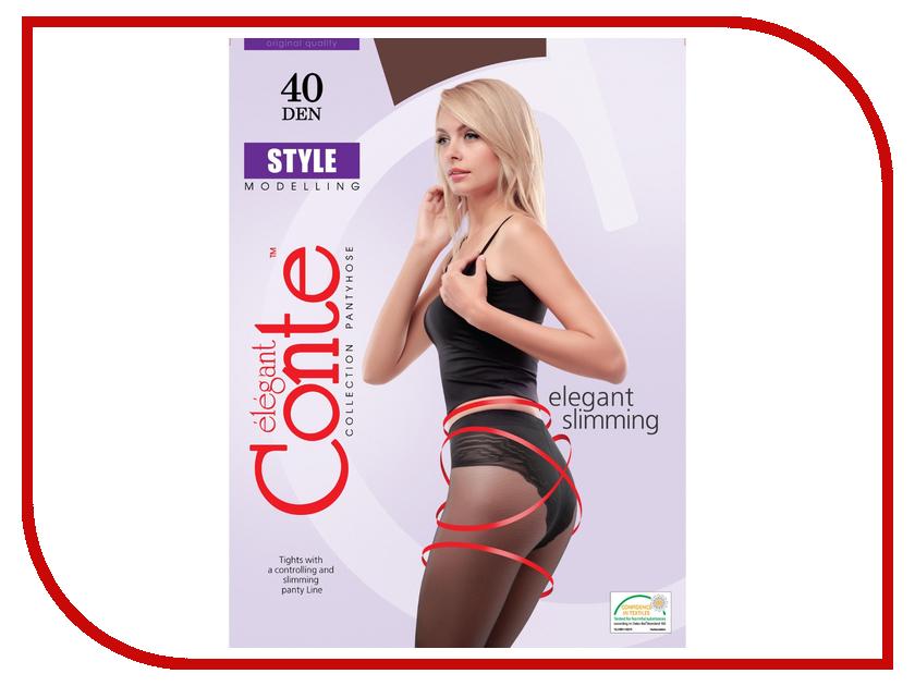 Колготки Conte Style размер 2 плотность 40 Den Bronzo<br>
