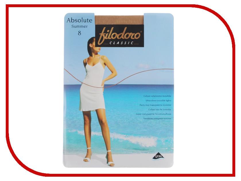 Колготки Filodoro Absolute Summer размер 2 плотность 8 Den Tea<br>