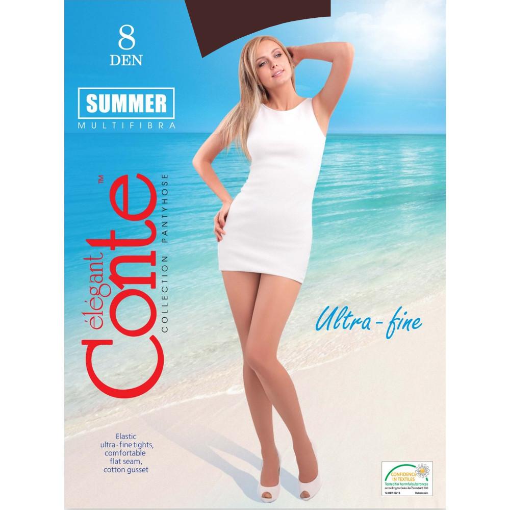 купить Колготки Conte Summer размер 3 плотность 8 Den Bronzo по цене 215 рублей