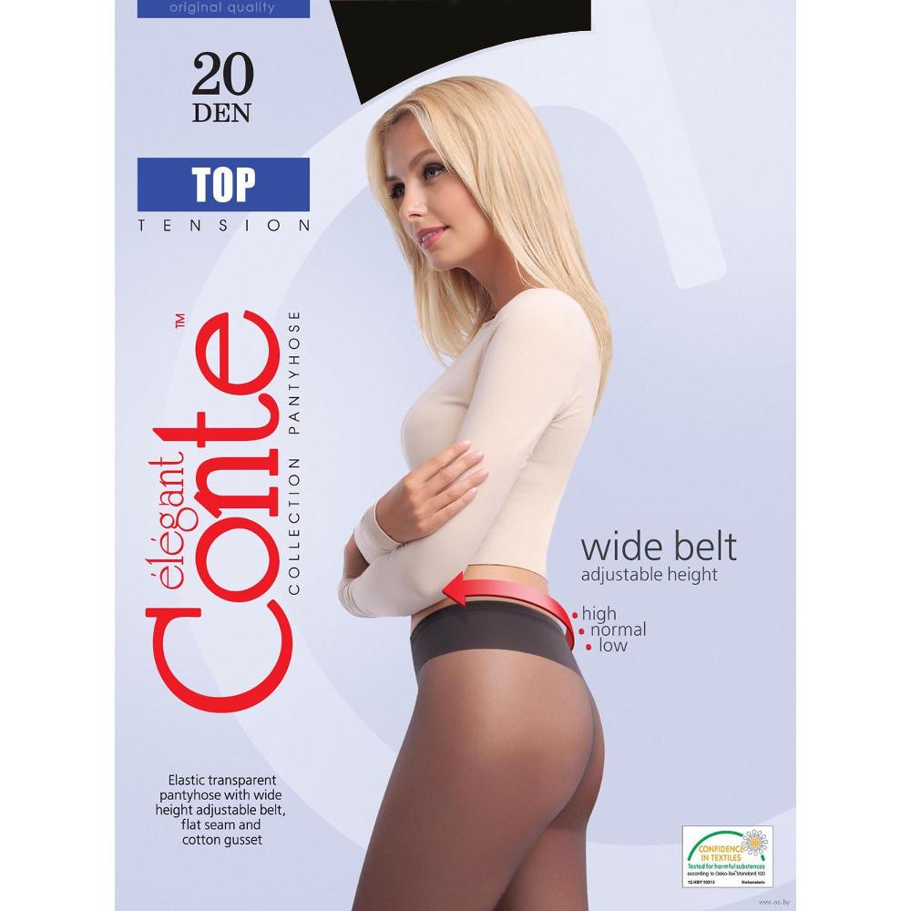 Колготки Conte Top размер 2 плотность 20 Den Nero conte колготки жен nuance 40 den черный nero r 4