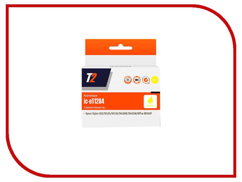 Картридж T2 IC-ET1284 Yellow для Epson Stylus S22/SX125/SX130/SX230/SX420W/Office BX305F с чипом