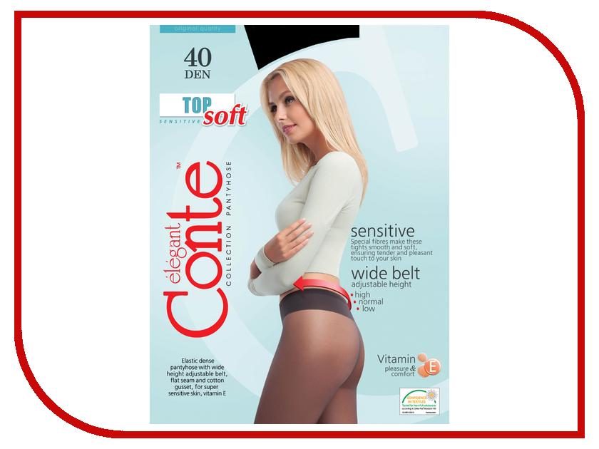Колготки Conte Top Soft размер 4 плотность 40 Den Nero колготки conte top soft размер 4 плотность 40 den naturel