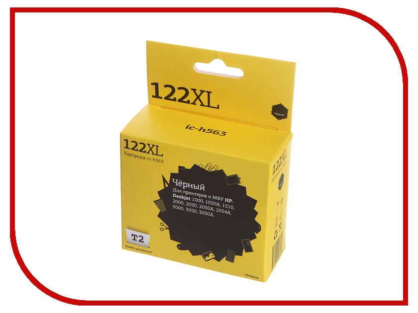 Картридж T2 IC-H563 №122XL Black для HP Deskjet 1000/1050A/1510/2000/2050/2050A/3000/3050/3050A картридж t2 ic h564 122xl multicolor для hp deskjet 1000 1050a 1510 2000 2050 2050a 3000 3050 3050a