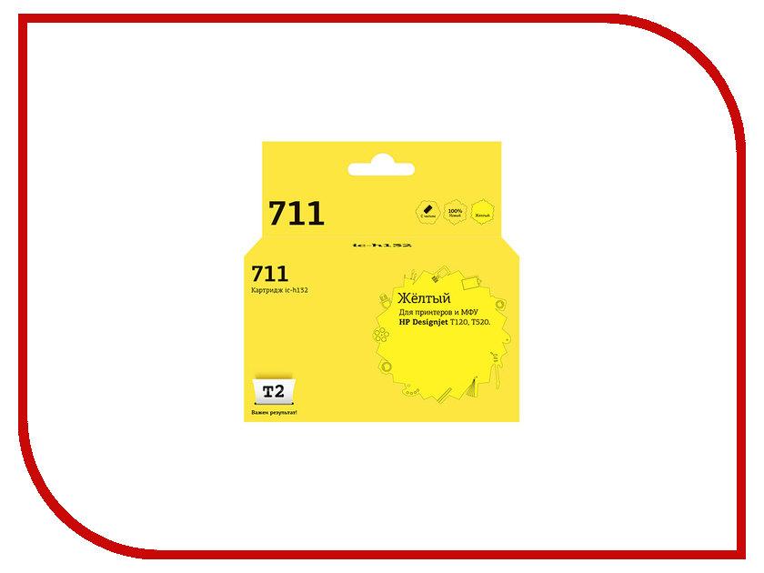 Картридж T2 IC-H132 №711 Yellow для HP Designjet T120/520 с чипом картридж t2 ic cli 426c cyan с чипом