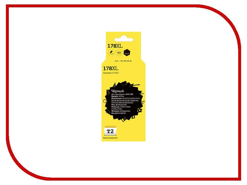 Картридж T2 IC-H321 №178XL Black для HP Deskjet 3070A/Photosmart 5510/5515/6510/7510/B010b/B109c/B110a/B110d/B110e/C8553/C5383/C6383/D5463/Plus B209b/B210b/Premium C309c/C309h/C310b/C410C/Wireless B109g/B109r/Pro B8553/8558 с чипом cn642a for hp 178 364 564 564xl 4 colors printhead for hp 5510 5511 5512 5514 5515 b209a b210a c309a c310a 3070a b8550 d7560