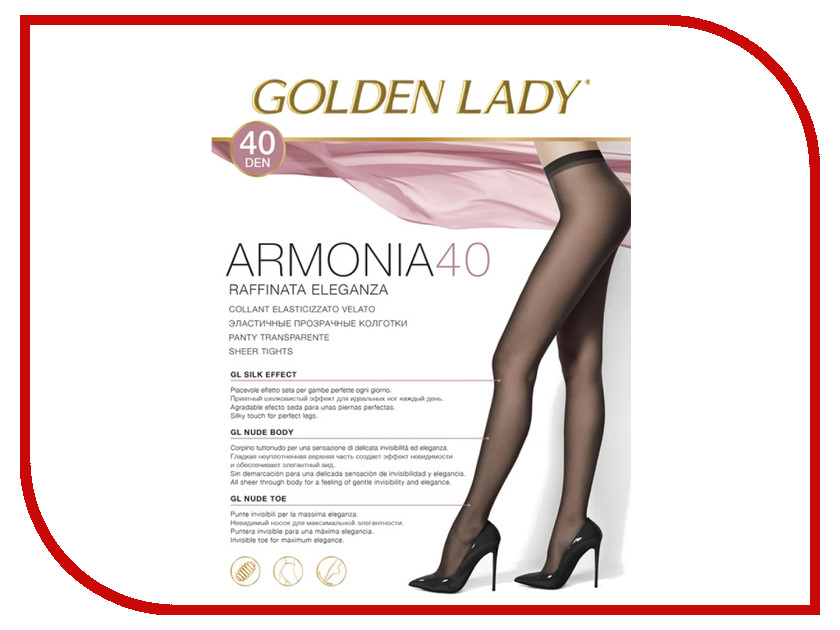 Колготки Golden Lady Armonia размер 3 плотность 40 Den Nero колготки golden lady vivace размер 3 плотность 40 den nero
