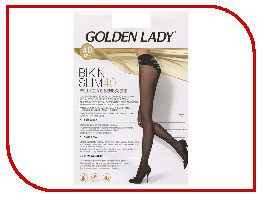 Колготки Golden Lady Bikini Slim размер 2 плотность 40 Den Daino golden toys