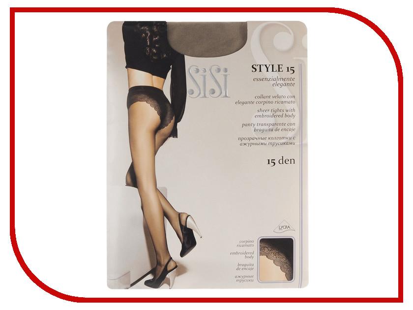 Колготки SiSi Style размер 4 плотность 15 Den Daino sisi queen чулки 40 den цвет daino размер 4