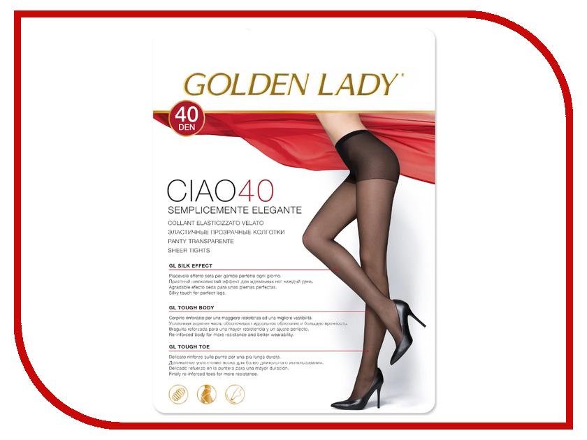 Колготки Golden Lady Ciao размер 5 плотность 40 Den Nero гольфы golden lady ciao 40 new цвет nero черный 2 пары размер универсальный