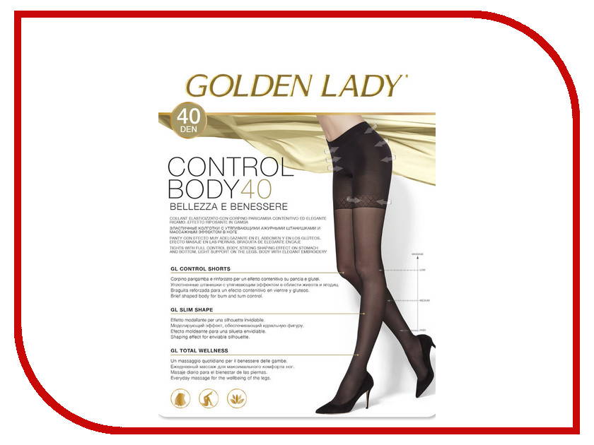 Фото Колготки Golden Lady Control Body размер 4 плотность 40 Den Melon