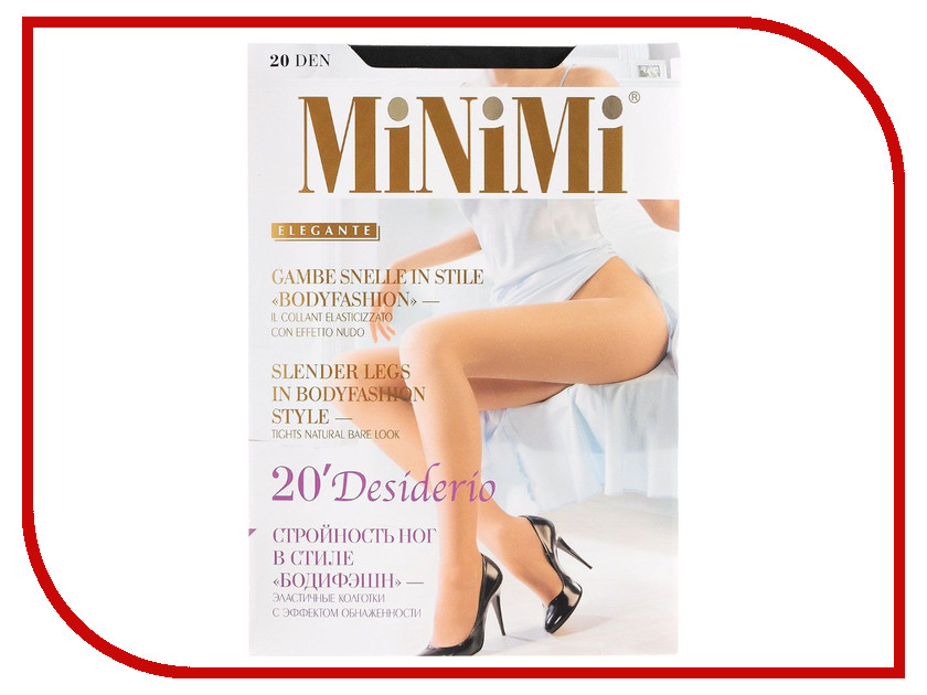 Колготки MiNiMi Desiderio размер 3 плотность 20 Den Nero