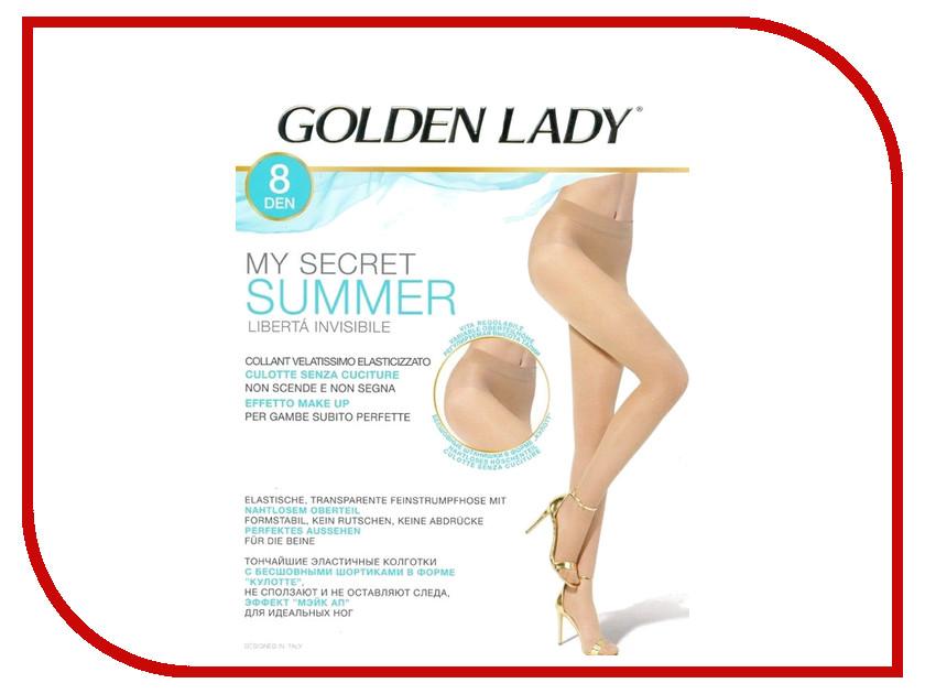 Колготки Golden Lady My Secret Summer размер 4 плотность 8 Den Tea my favor my lady 15