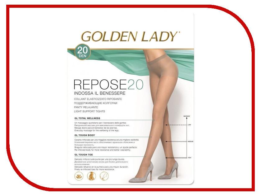 Колготки Golden Lady Repose размер 4 плотность 20 Den Nero<br>