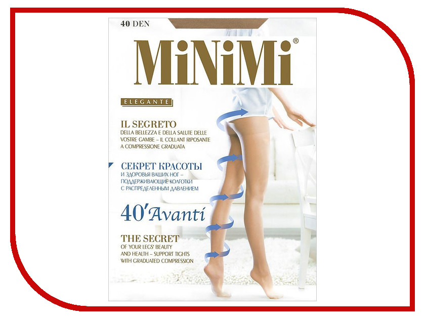 Колготки MiNiMi Avanti размер 2 плотность 40 Den Caramello