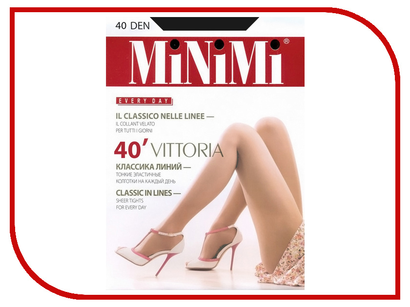 Колготки MiNiMi Vittoria размер 4 плотность 40 Den Nero