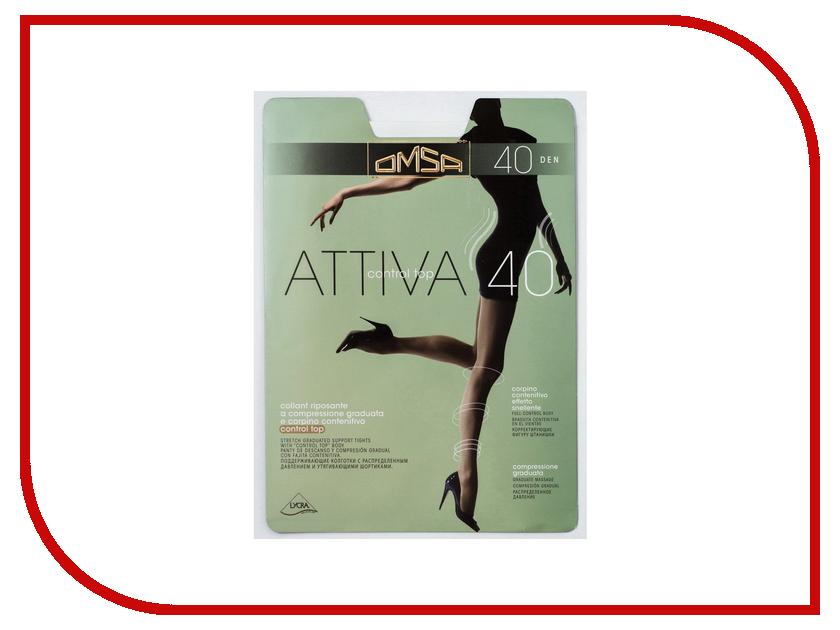 Колготки OMSA Attiva Control Top размер 2 плотность 40 Den Caramello attiva control top omsa