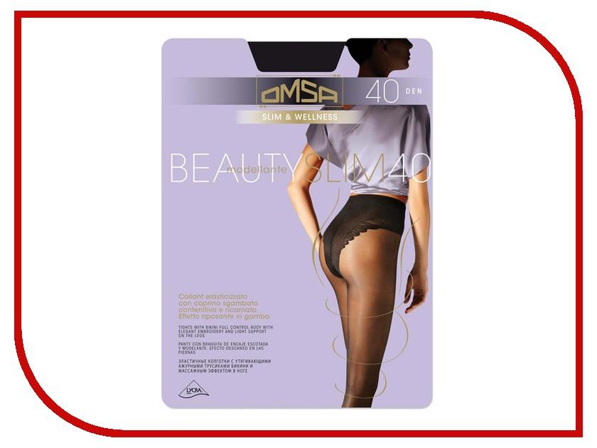 Колготки OMSA Beauty Slim размер 2 плотность 40 Den Nero рюкзак beauty 2