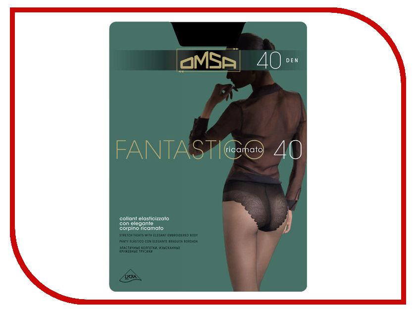 Колготки OMSA Fantastico размер 4 плотность 40 Den Nero гольфы женские omsa easy day 40 nero черный 2 пары размер 3 4 m l