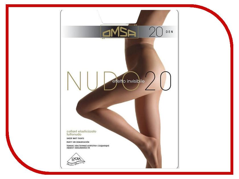 Колготки OMSA Nudo размер 4 плотность 20 Den Caramello