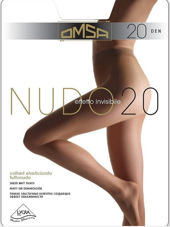 Колготки OMSA Nudo размер 2 плотность 20 Den Nero колготки omsa superlativa 70 цвет nero черный 4069om размер 4 46 48