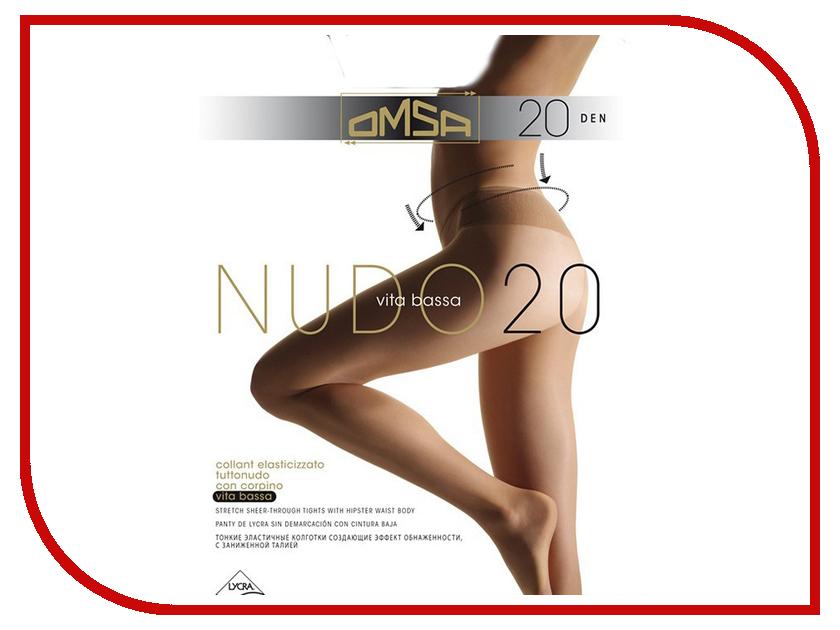 Колготки OMSA Nudo Vita Bassa размер 2 плотность 20 Den Daino<br>