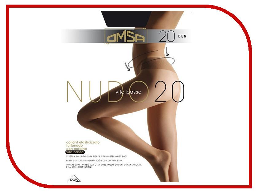 Колготки OMSA Nudo Vita Bassa размер 4 плотность 20 Den Nero колготки omsa nudo vita bassa размер 3 плотность 20 den daino