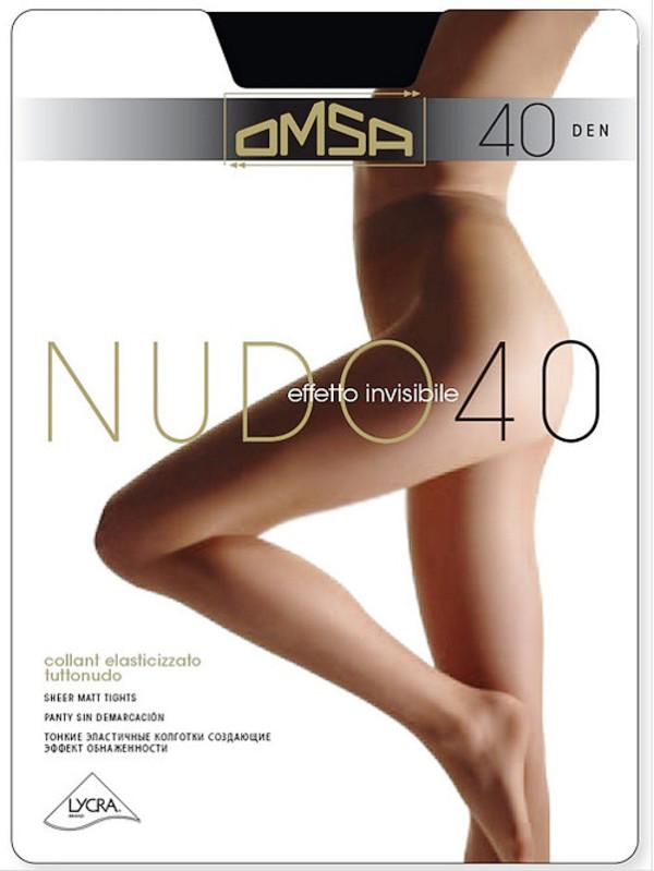Колготки OMSA Nudo размер 2 плотность 40 Den Daino колготки omsa velour размер 4 плотность 40 den nero