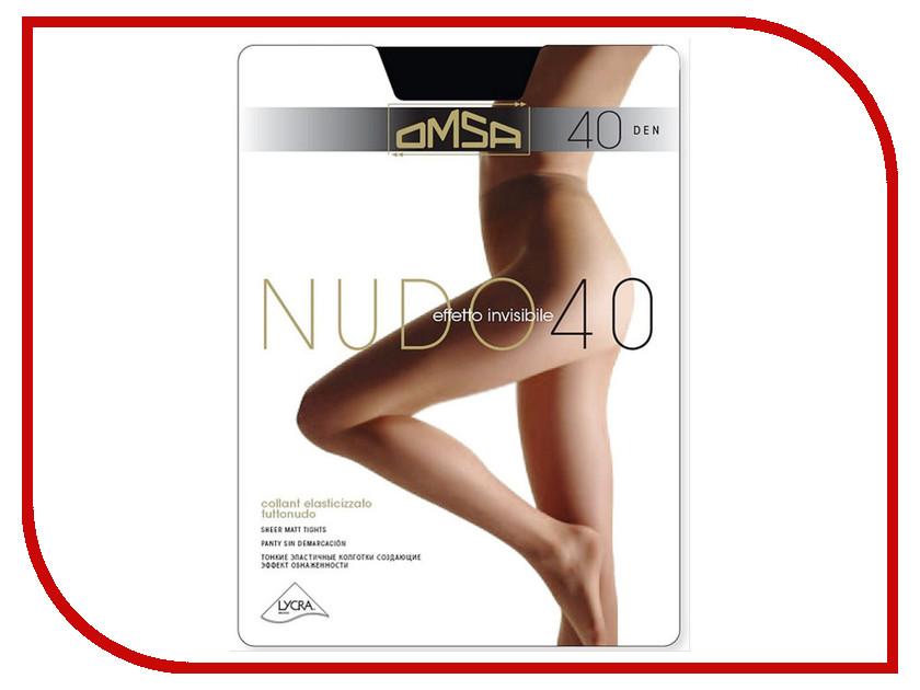 Колготки OMSA Nudo размер 2 плотность 40 Den Nero