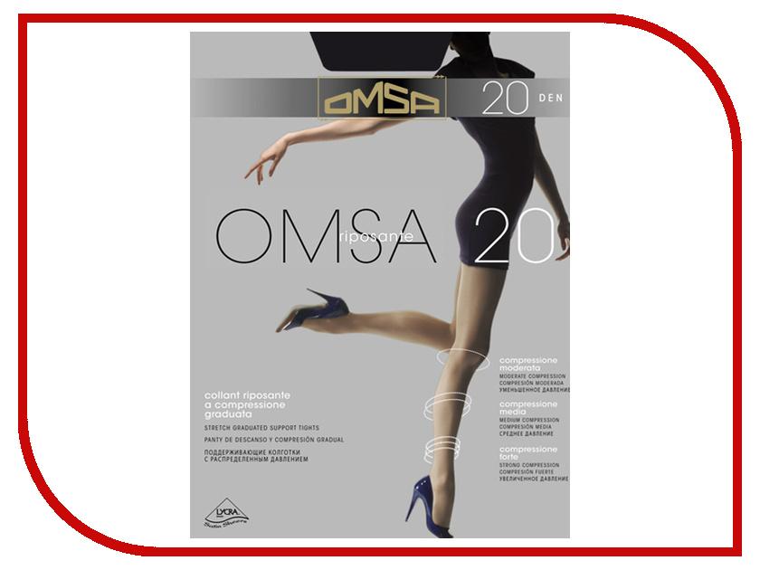 Колготки OMSA размер 2 плотность 20 Den Nero