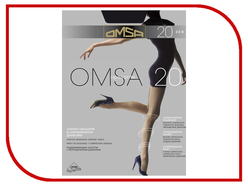 Колготки OMSA размер 4 плотность 20 Den Nero omsa green 20 nero 4