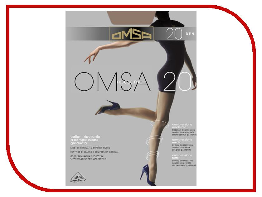 Колготки OMSA размер 6XXL плотность 20 Den Caramello