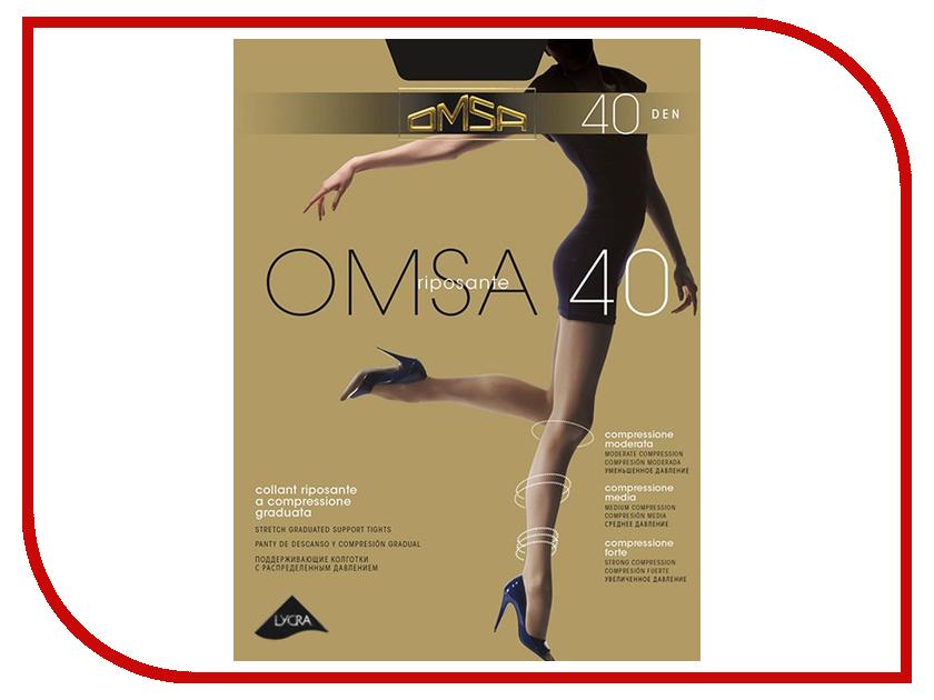 Колготки OMSA размер 3 плотность 40 Den Nero гольфы женские omsa easy day 40 nero черный 2 пары размер 3 4 m l