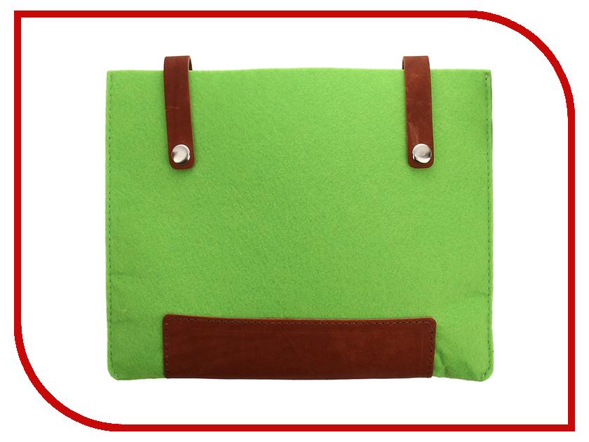Аксессуар Чехол 8-inch IQ Format с кожаными вставками на кнопках Green гаджет iq format чехол для очков на липучке green