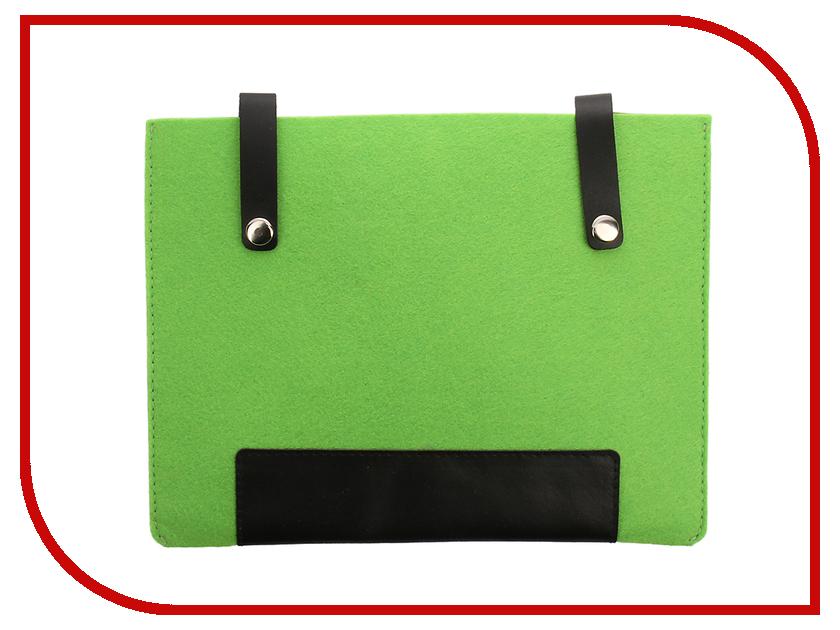 Аксессуар Чехол 8-inch IQ Format с кожаными вставками на кнопках Green-Black гаджет iq format чехол для очков на липучке green