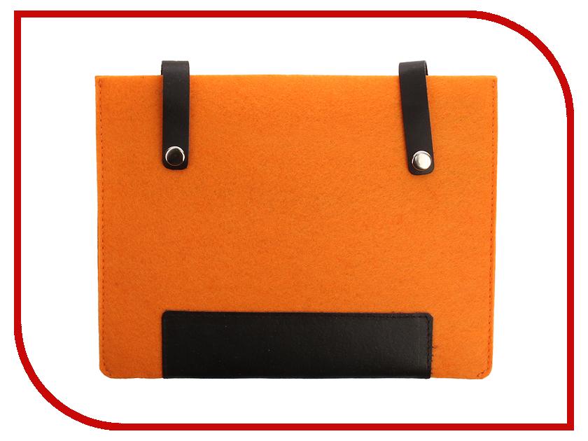 Аксессуар Чехол 8-inch IQ Format с кожаными вставками на кнопках Orange-Black