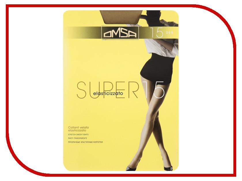 Колготки OMSA Super размер 4 плотность 15 Den Caramello