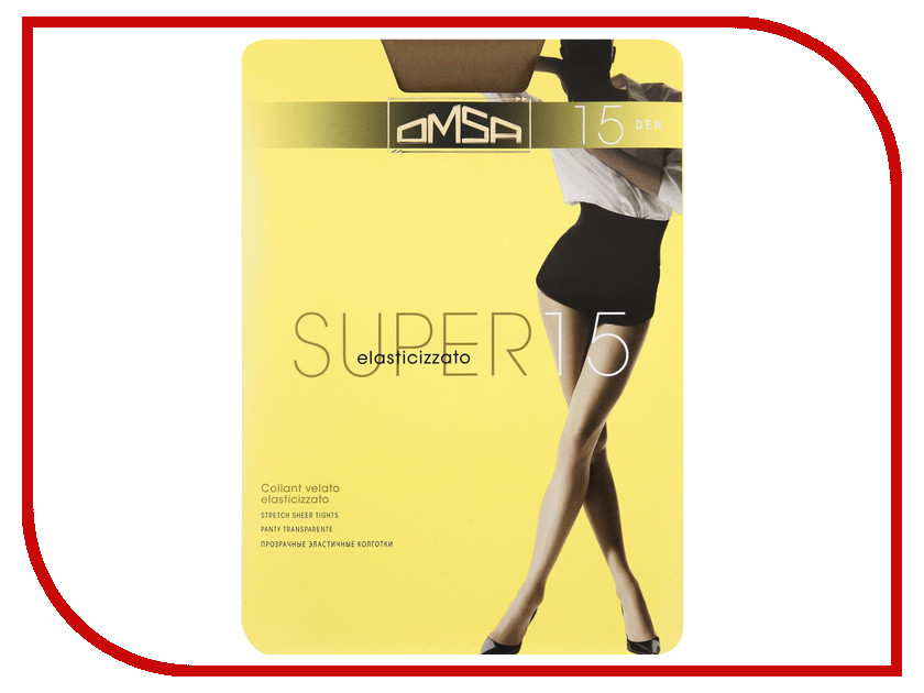 Колготки OMSA Super размер 2 плотность 15 Den Daino