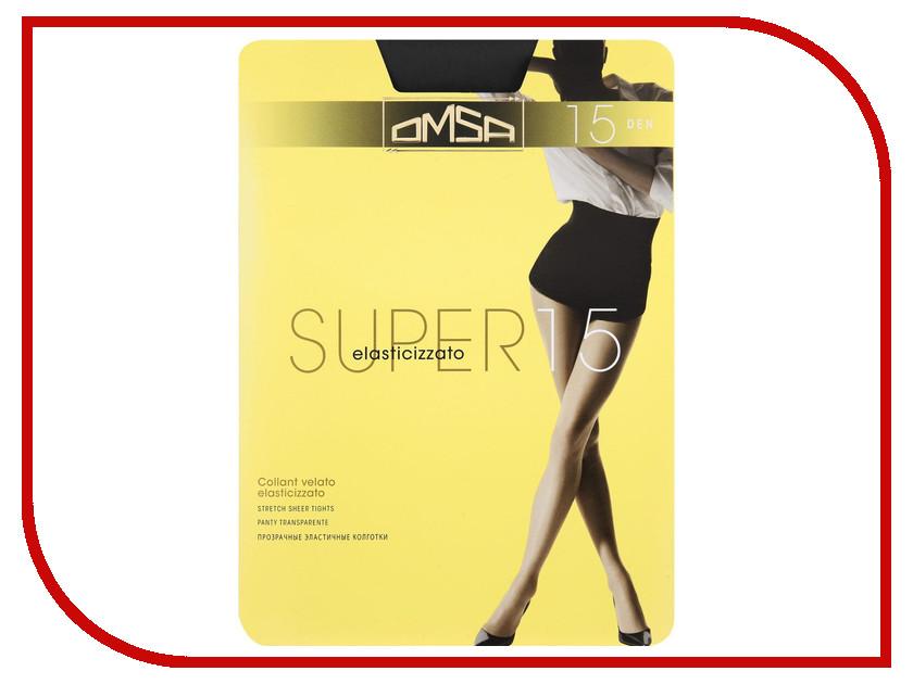 Колготки OMSA Super размер 4 плотность 15 Den Nero
