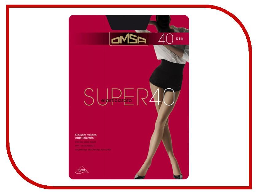 Колготки OMSA Super размер 4 плотность 40 Den Nero гольфы женские omsa easy day 40 nero черный 2 пары размер 3 4 m l