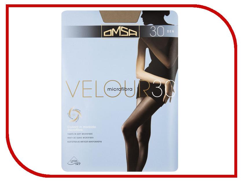 Колготки OMSA Velour размер 4 плотность 30 Den Caramello omsa velour 40 xl