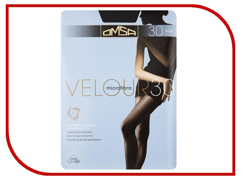 Колготки OMSA Velour размер 2 плотность 30 Den Nero omsa velour 40 xl